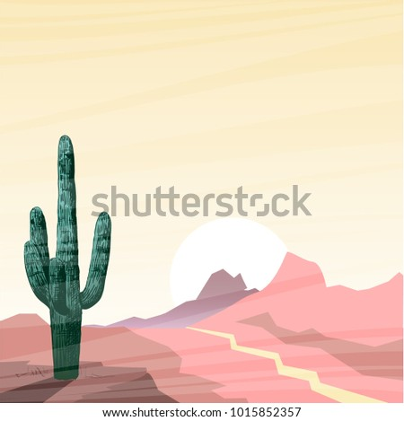 vector illustration with cactus