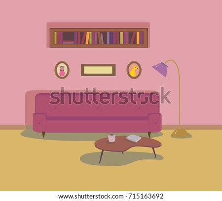vector illustration with cozy...