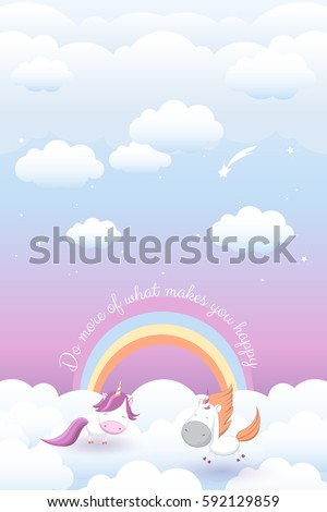 vector illustration with cute