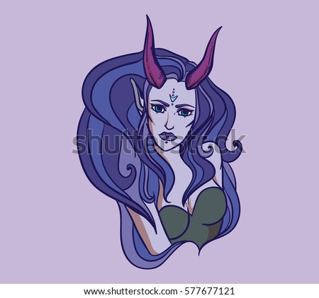 vector illustration with devil