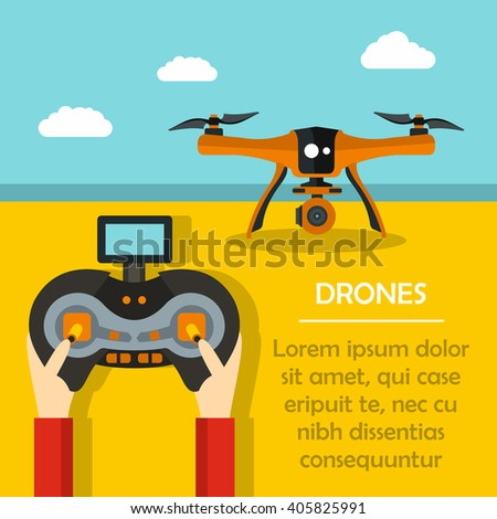 vector illustration with drone