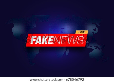 Breaking news banner background with world map descargue grficos vector illustration with fake news live on world map background gumiabroncs Image collections