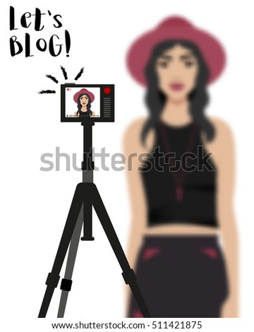 vector illustration with girl