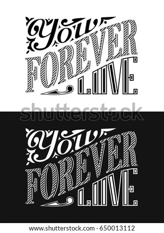 Vector illustration with hand-drawn lettering. Calligraphic design