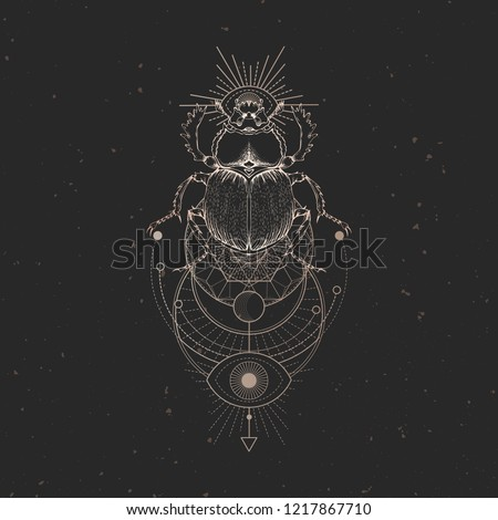vector illustration with hand