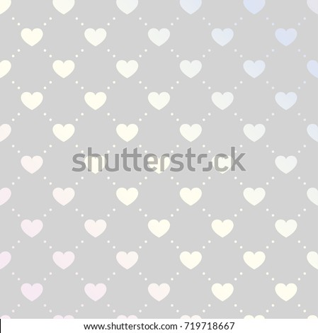 Vector Illustration with Hearts. Abstract Pattern.