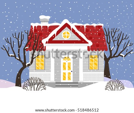 vector illustration with house