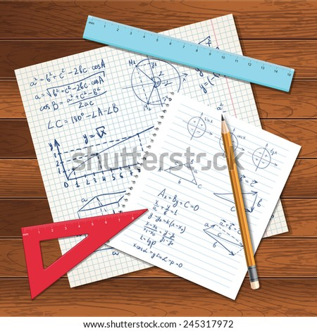 vector illustration with math