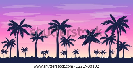vector illustration with palm