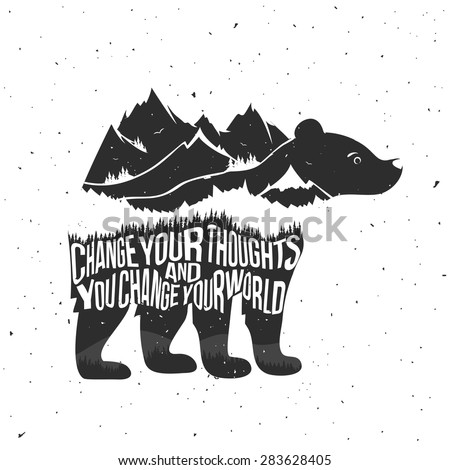 vector illustration with quote