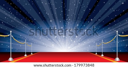 stock-vector-vector-illustration-with-red-carpet-and-star-burst