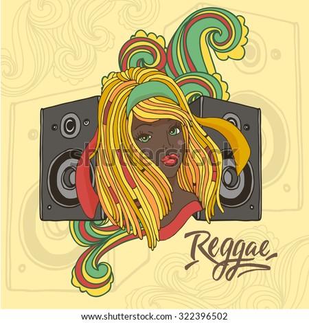 vector illustration with reggae