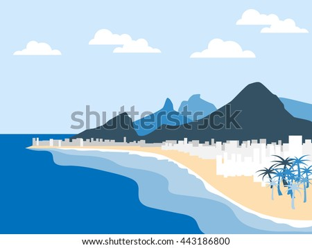 vector illustration with rio de ...