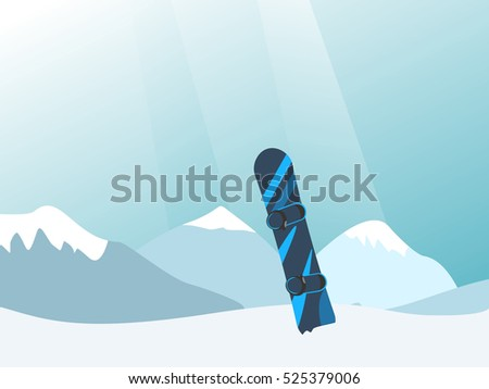 vector illustration with snowy
