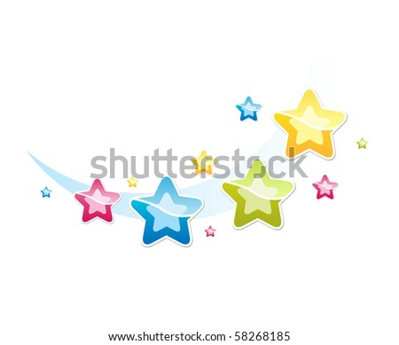 vector illustration with stars