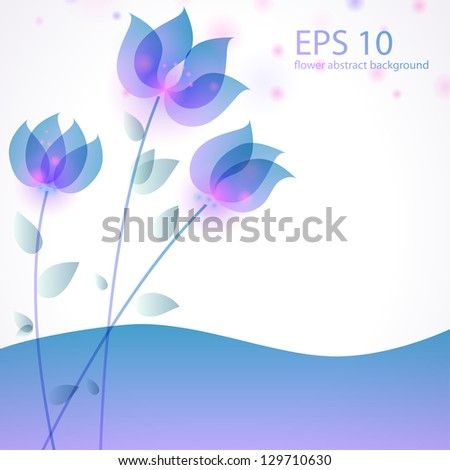 Vector illustration with stylized flowers