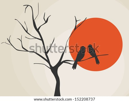 Birds at sunset free vector background download free vector art