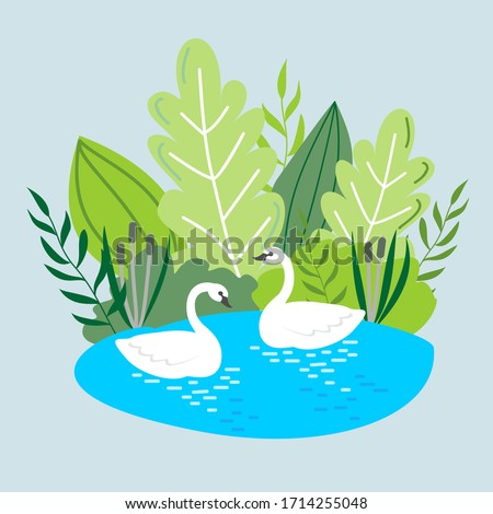 vector illustration with two