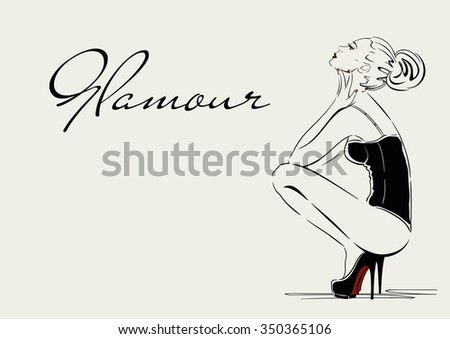 vector illustration woman in
