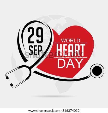 vector illustration world heart