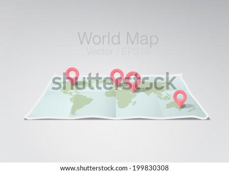 vector illustration world map #199830308