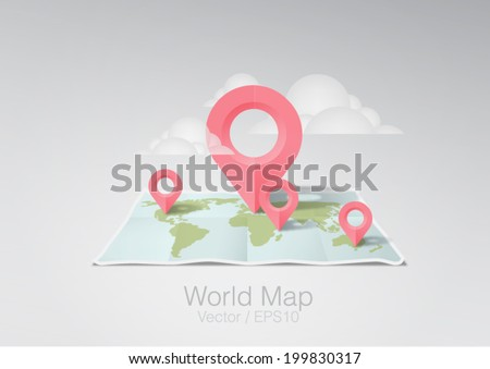 vector illustration world map #199830317