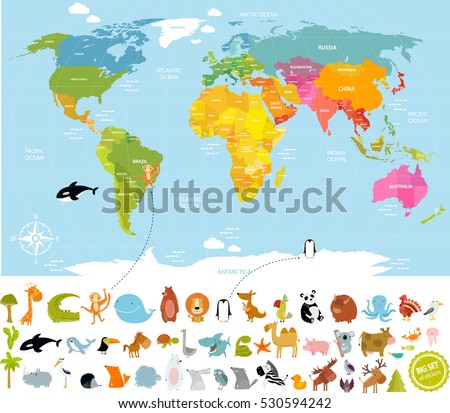 vector illustration world map