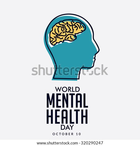 Vector illustration World Mental Health Day.