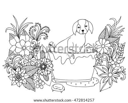 vector illustration zen tangle