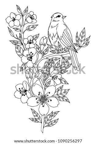 vector illustration zentangl. a ...