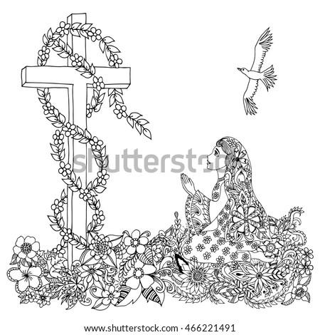 vector illustration zentangl