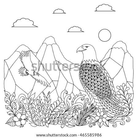 vector illustration zentangle