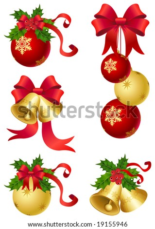 vector illustrations - christmas decor and symbols
