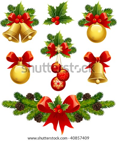 Christmas Ornaments on Stock Vector   Vector Illustrations   Christmas Ornaments Icons