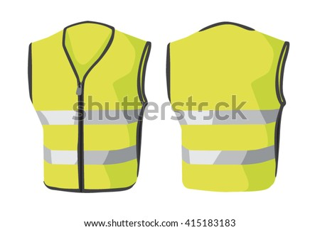 Vector illustrations of clothes. Reflective vest Foto stock ©