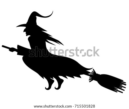 witch on a broomstick download free vector art stock graphics