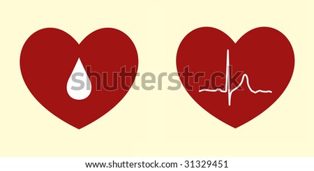 Vector Illustrations of Heart Related Concepts