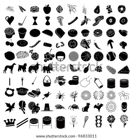 Vector Illustrations of 100 Icon Set 3