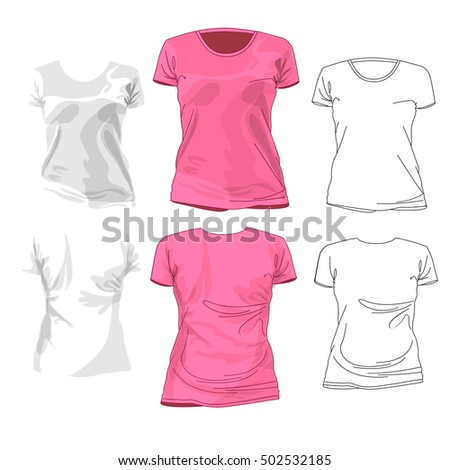 Low top shirt images for Pink t shirt template