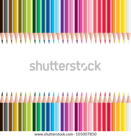 vector illustrationt of colored pencils