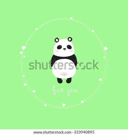 vector illustrative of panda