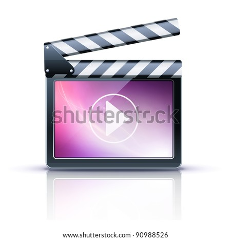 Vector illustrator of media player icon.