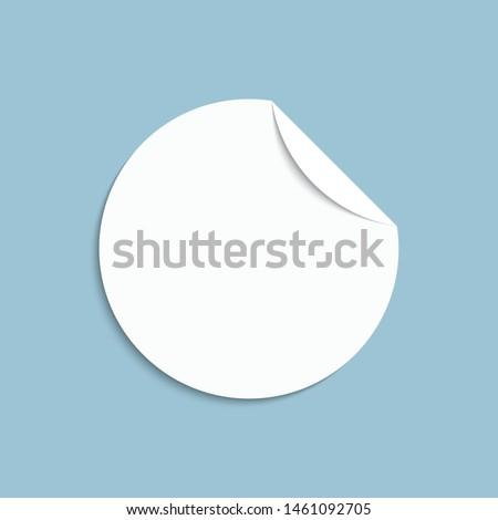 Vector illustrator white round pomotion blank.
