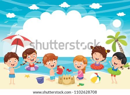 vector ilustration of summer