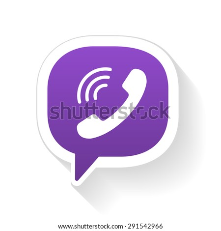 Vector IM instant message phone handset icon with shadow