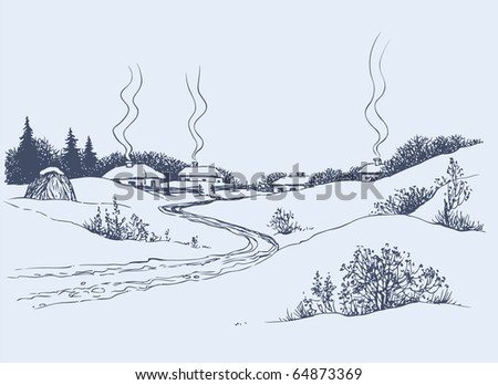 vector image a dirt road leads