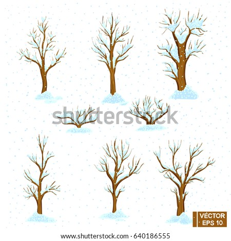 vector image a set of winter
