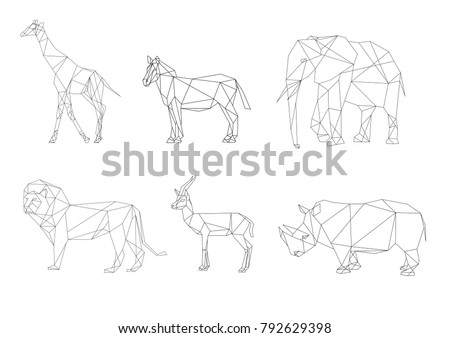vector image african animals