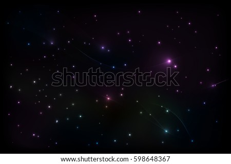vector image background starry sky
