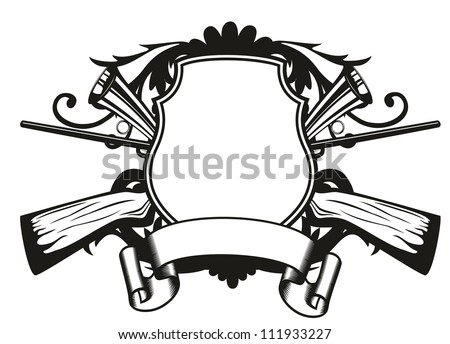 Guns Crossed Logo Crossed Guns And Patterns
